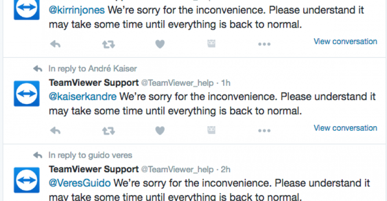 TeamViewer remote management suffers outages, but no
