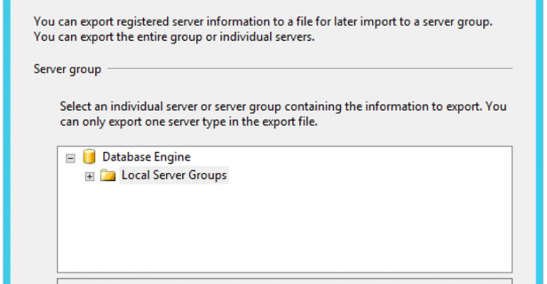 Sharing Registered Server Entries in SQL Server Management Studio