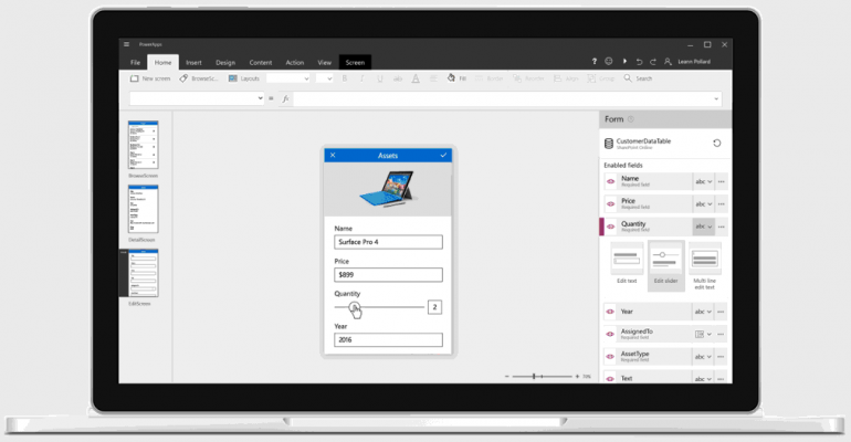 Microsoft PowerApps: Applications achieve new scales of use, affordability, and efficiency