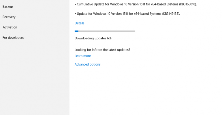 Windows 10 CB Updated to Build 10586.420 with Cumulative Update KB3163018