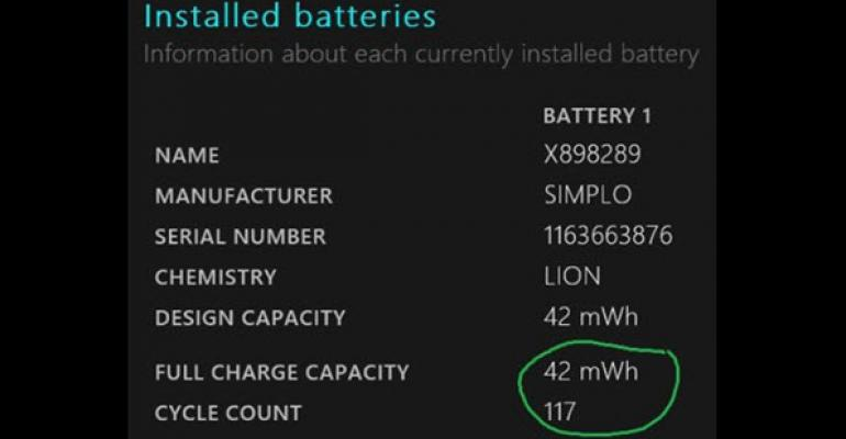 Can a Failing Surface Pro 3 SIMPLO Battery Be Reconditioned Back to Normal?