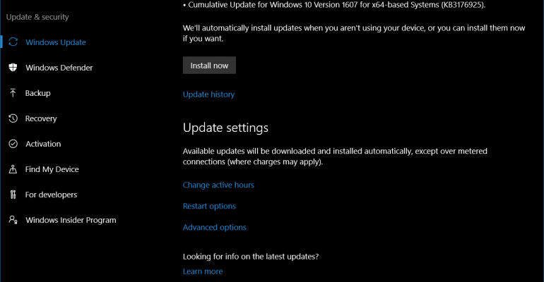 One Step Closer to the Final Build of the Windows 10 Anniversary Update