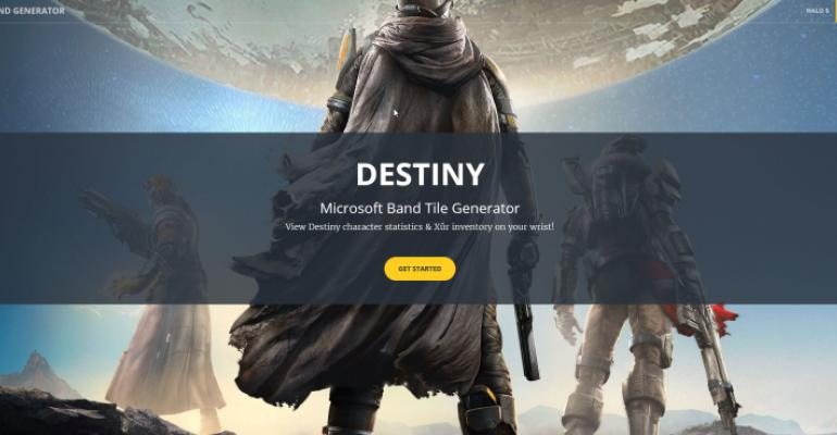 Add Destiny and Halo 5 Tiles to Your Microsoft Band