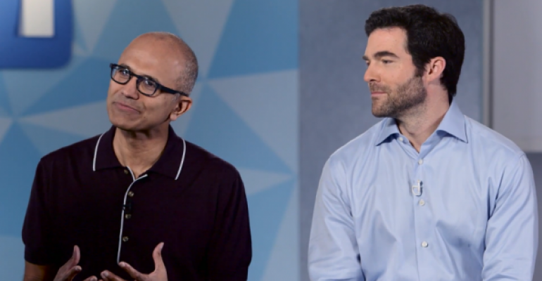 Microsoft CEO Satya Nadella and LinkedIn39s CEO Jeff Weiner