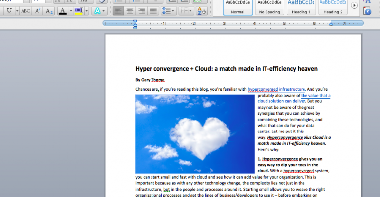 Hyperconvergence + Cloud: A Match Made in IT-Efficiency Heaven