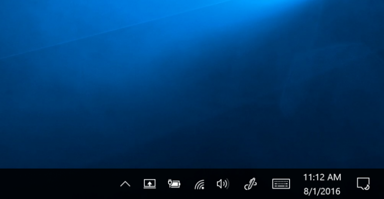 Quick Tip: Locate Action Center & Windows Ink Icons in Windows 10 Anniversary Update