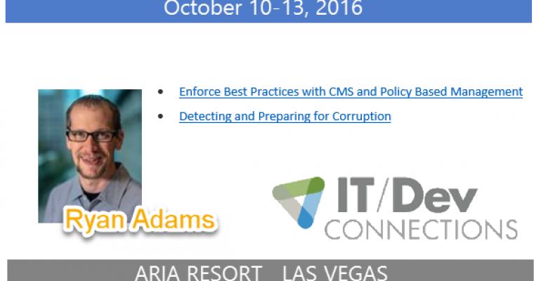 IT/Dev Connections 2016 Speaker Highlight: Ryan Adams