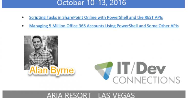 IT/Dev Connections 2016 Speaker Highlight: Alan Byrne