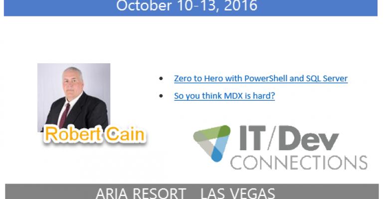 IT/Dev Connections 2016 Speaker Highlight: Robert Cain