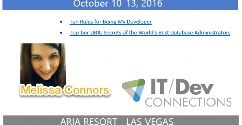 IT/Dev Connections 2016 Speaker Highlight: Melissa Connors