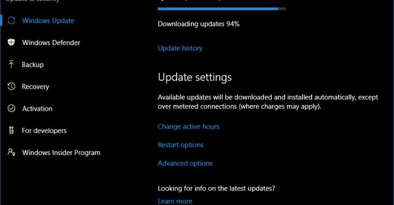 Windows 10 Anniversary Update Receives its First Public Cumulative Update