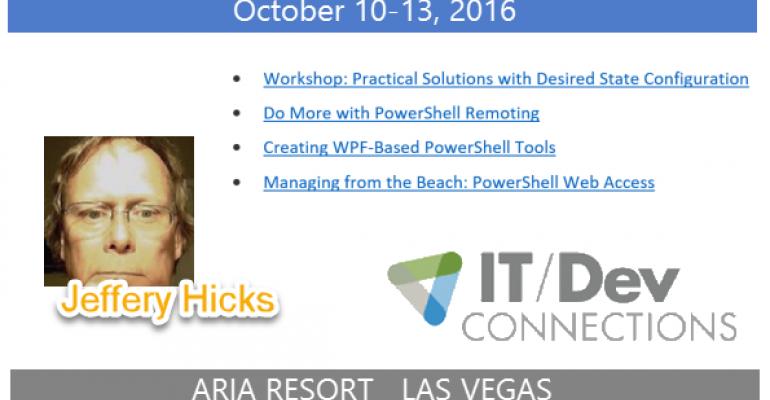 IT/Dev Connections 2016 Speaker Highlight: Jeffrey Hicks