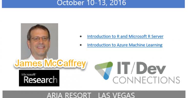 IT/Dev Connections 2016 Speaker Highlight: James McCaffrey