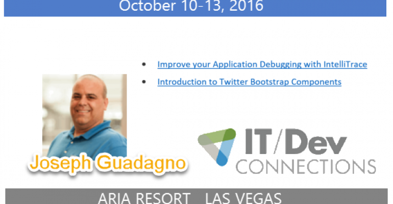 IT/Dev Connections 2016 Speaker Highlight: Joseph Guadagno