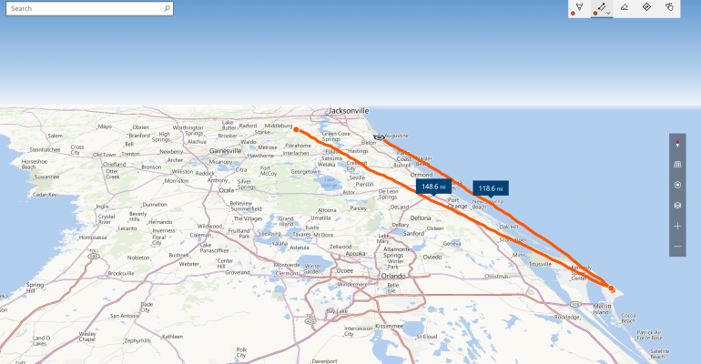 Maps | Easily find distances between two points using your finger or Distance Maps on