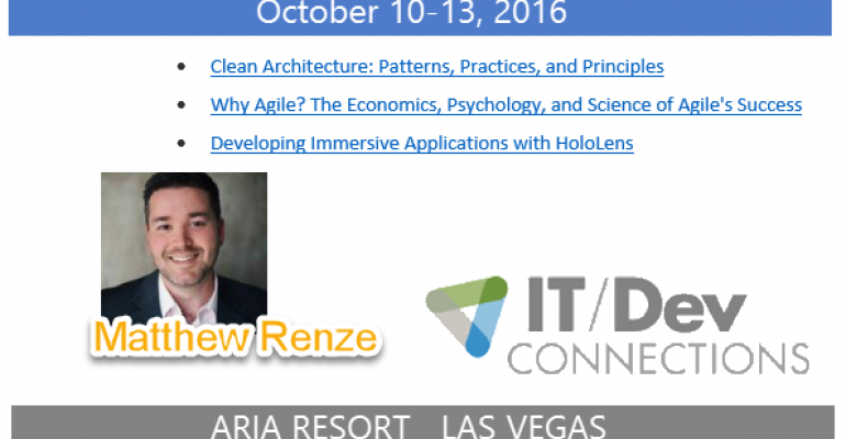 IT/Dev Connections 2016 Speaker Highlight: Matthew Renze