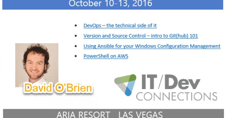 IT/Dev Connections 2016 Speaker Highlight: David O'Brien