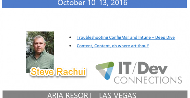 IT/Dev Connections 2016 Speaker Highlight: Steve Rachui