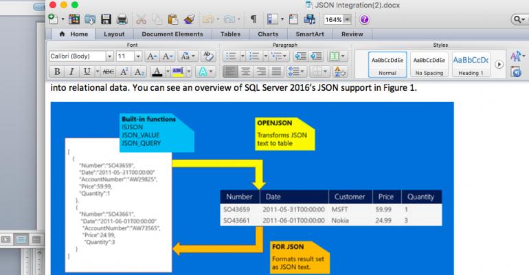 SQL Server 2016's JSON Integration