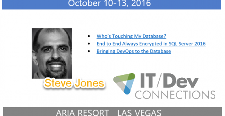 IT/Dev Connections 2016 Speaker Highlight: Steve Jones