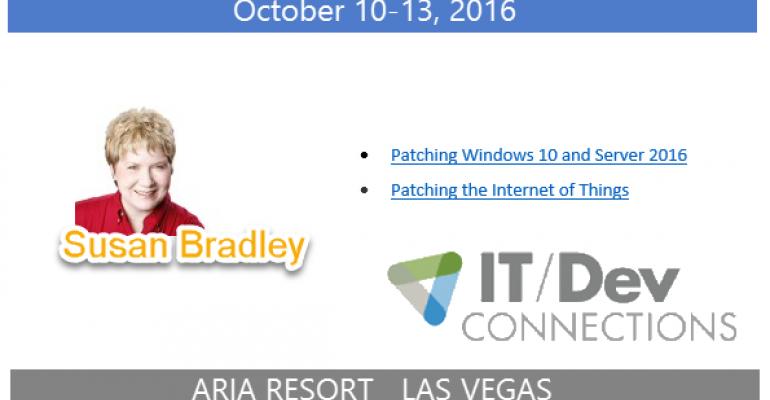 IT/Dev Connections 2016 Speaker Highlight: Susan Bradley