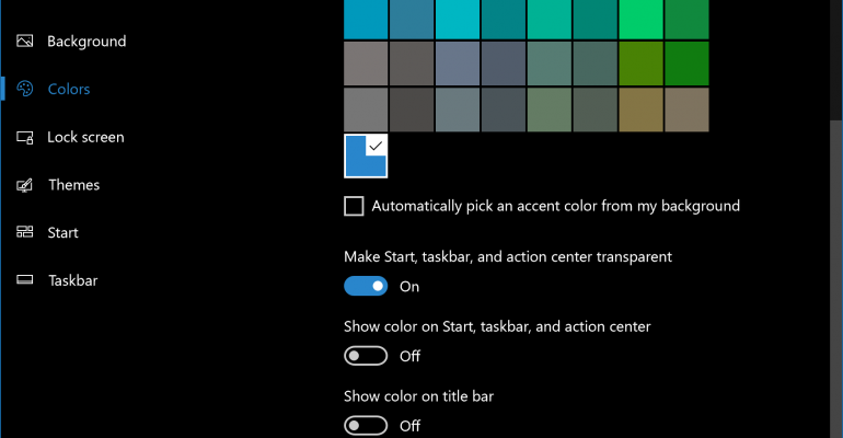 Windows 10 | Now your apps and system pages have a dark mode option