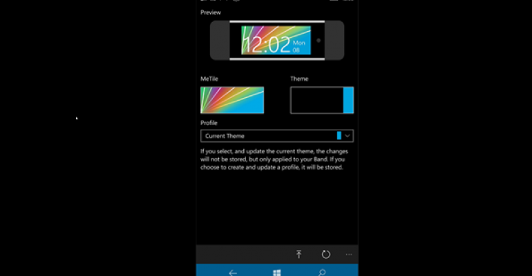 Create, Export, and Import Themes for Microsoft Band