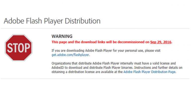 Adobe Decommissioning Flash Player Download Links on September 29