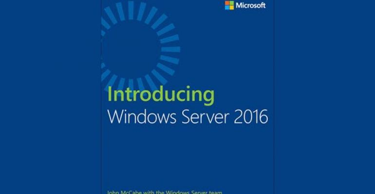 Free Windows Server 2016 eBook Available Today