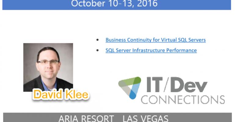 IT/Dev Connections 2016 Speaker Highlight: David Klee