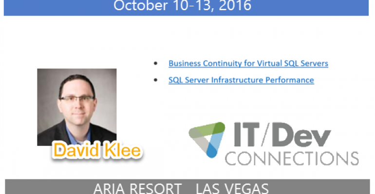 IT/Dev Connections 2016 Speaker Highlight: David Klee