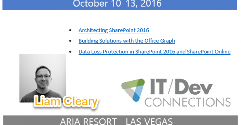 IT/Dev Connections 2016 Speaker Highlight: Liam Cleary