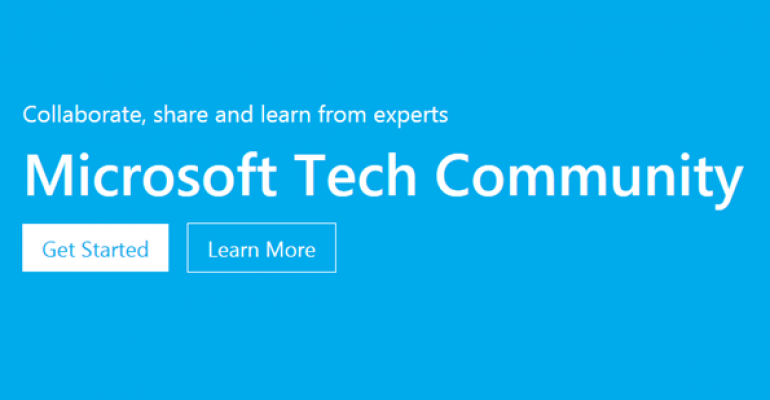 Microsoft Launches a New Online Tech Community for IT Pros