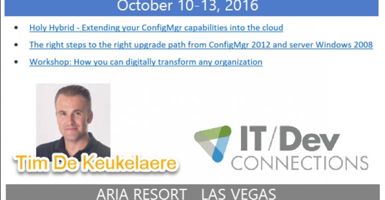 IT/Dev Connections 2016 Speaker Highlight: Tim De Keukelaere