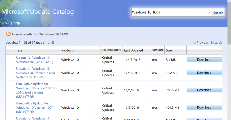 ActiveX Requirement Removed, Edge Users Can Now Access the Microsoft Update Catalog