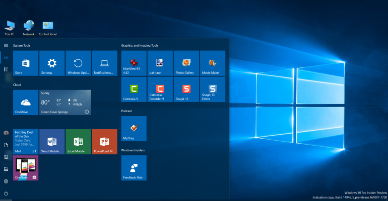 The Latest Progress with the Windows 10 Redstone 2 Development Builds on Desktops