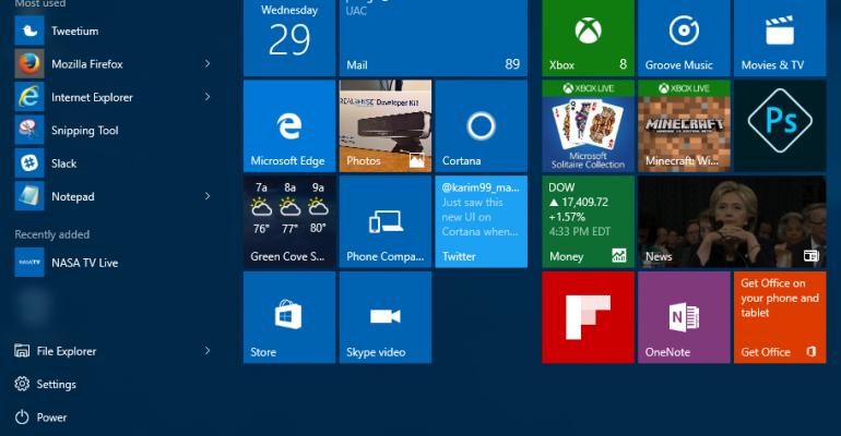 on windows 10 where is the start menu