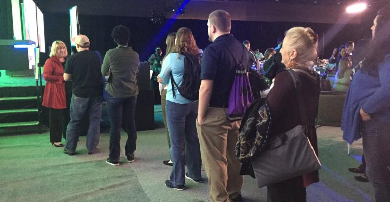 Kelly Lockwood Primus talks with attendees right after her discussion at SQL PASS Image via SQL PASS