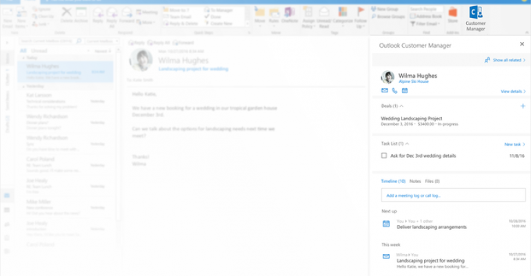Microsoft unveils a new, lightweight CRM for those not ready for Dynamics 365: Outlook Customer Manager