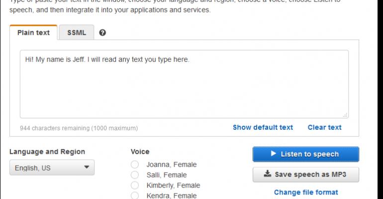 Amazon Unveils Image Recognition, Voice-Activated Cloud Services