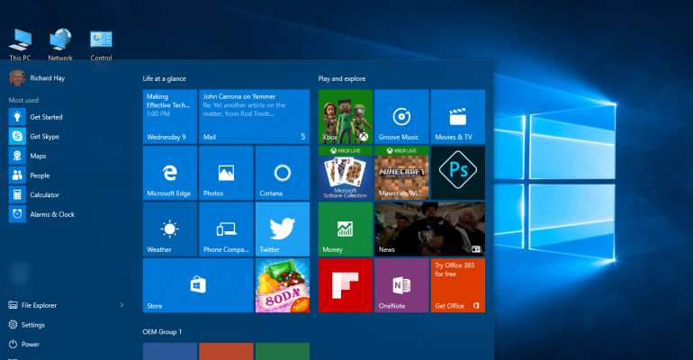 Windows 10 Anniversary Update Designated as Current Branch for Business (CBB)