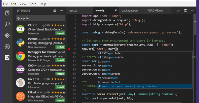 Visual Studio Code Version 1.7 Released with October Updates