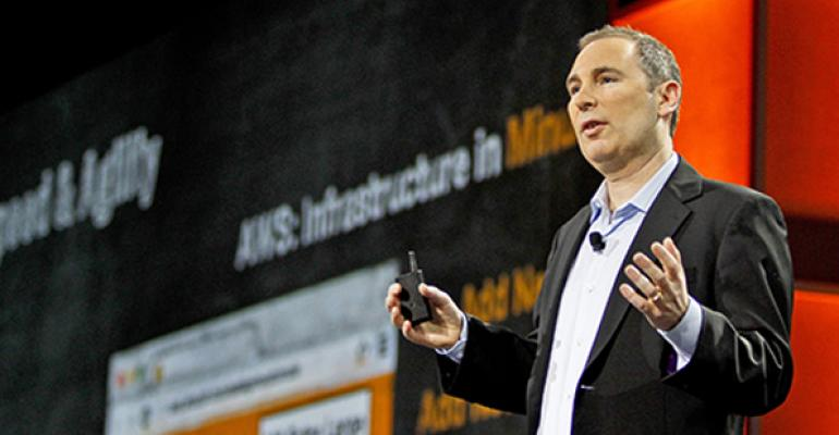 Amazon Web Services CEO Andy Jassy speaks at the companys reInvent conference