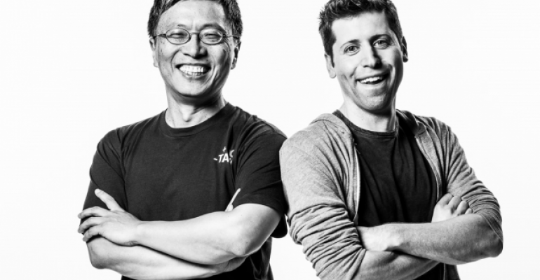 Harry Shum Microsoft AI and Research Group executive vice president and Sam Altman cochair of OpenAI Photo by Brian Smale courtesy of Microsoft