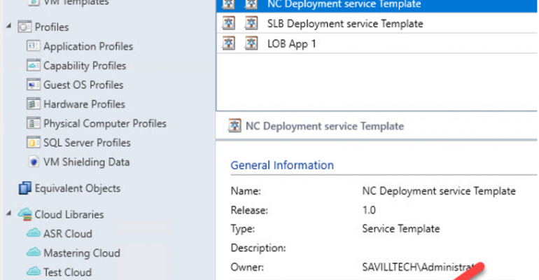 Solve issues deleting service template in SCVMM
