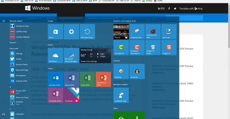Windows 10 Creators Update Build 15042 SDK Released