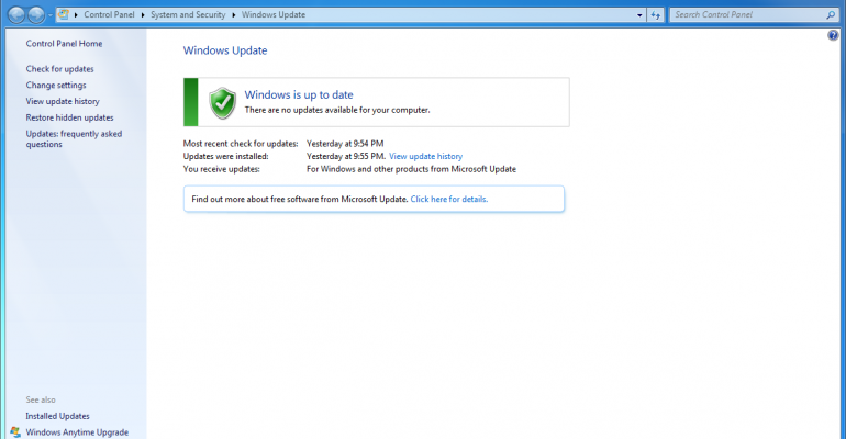 Solve errors related to Windows Update