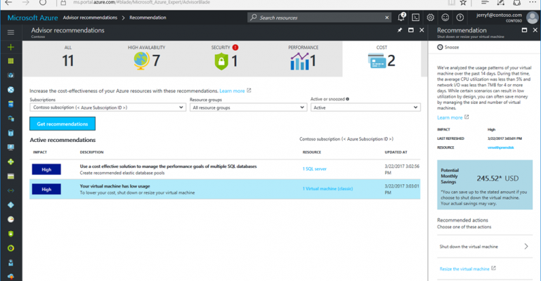 Microsoft Azure Advisor, Monitor, and Resource Health Features Hit General Availability