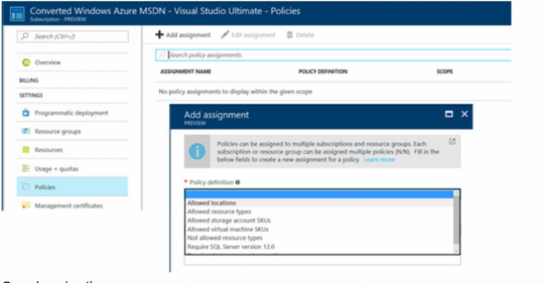 Restrict VM SKUs and other resources in Azure