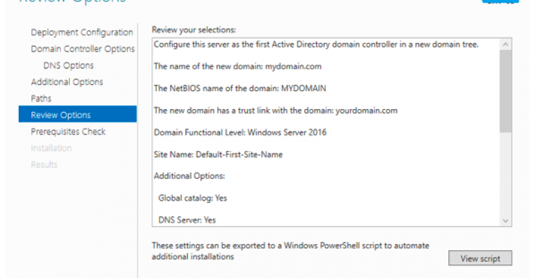 How to Add Tree Domain in an Existing Forest in Windows Server 2016